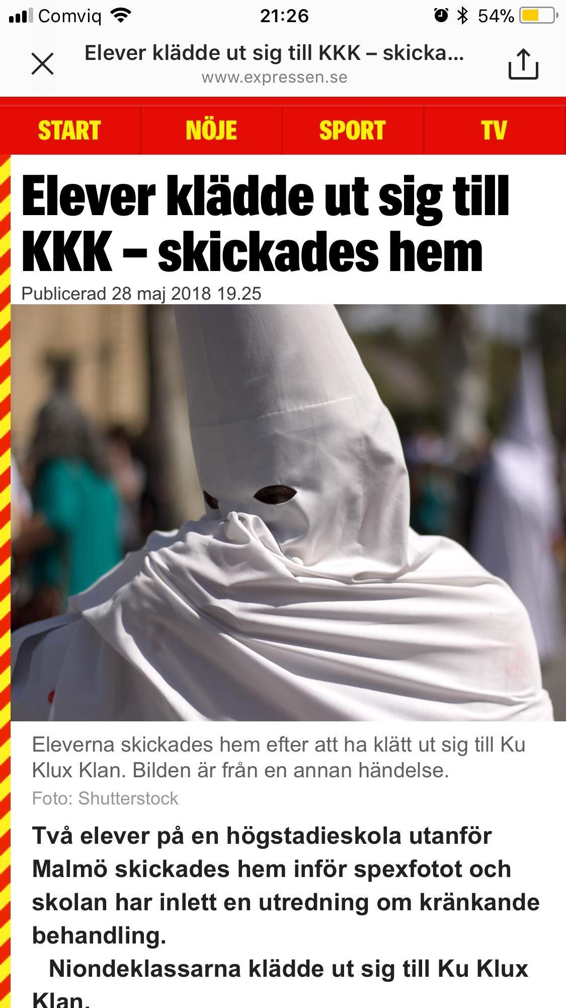 Lomma Pilängsskolan Sweden - Children dressed in KKK Outfits - IMG 2158 1